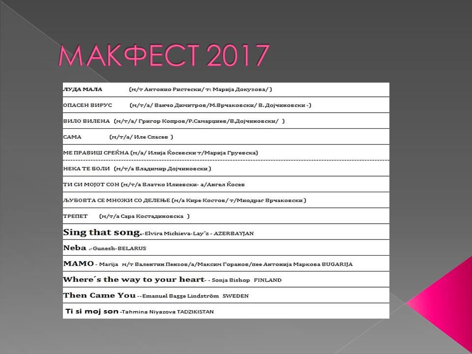 MAKFEST 2017 - 2